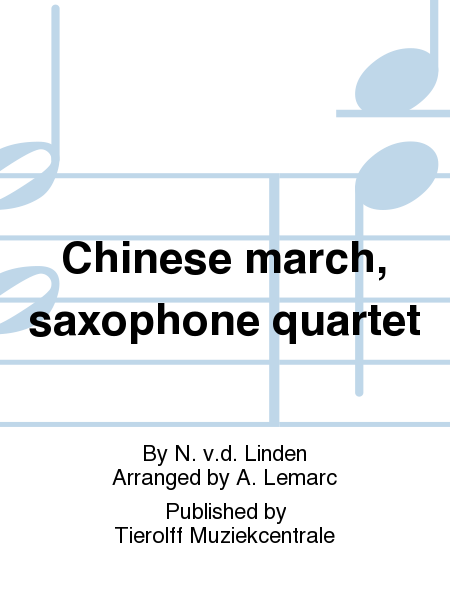 Chinese march, saxophone quartet