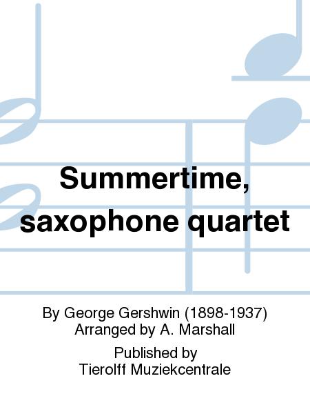 Summertime, saxophone quartet