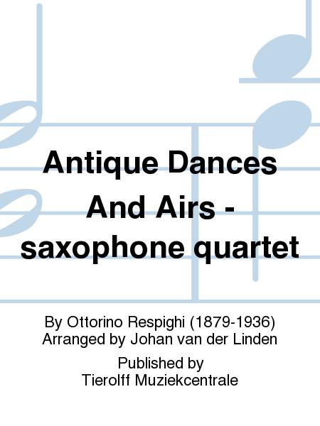 Antique Dances And Airs - saxophone quartet
