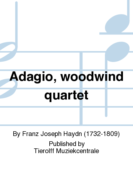 Adagio, woodwind quartet