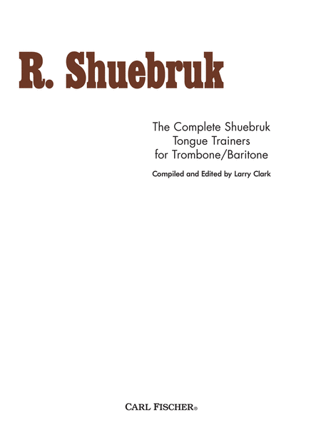 Complete Shuebruk Tongue Trainers for Trombone