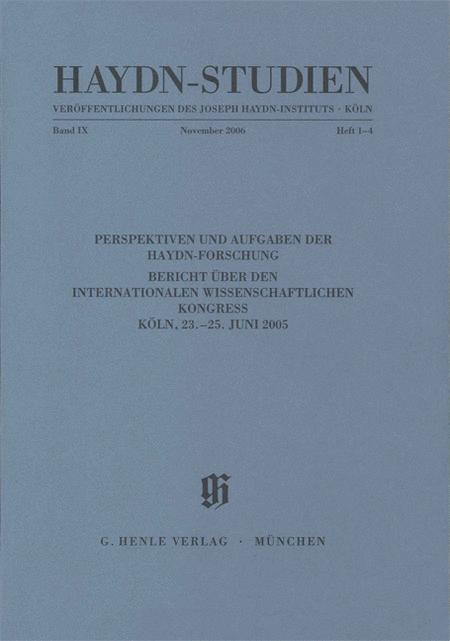 Perspektiven und Aufgaben der Haydn-Forschung