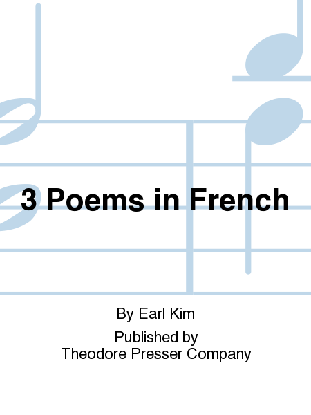 3 Poems in French