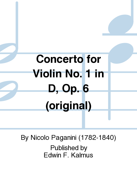 Concerto for Violin No. 1 in D, Op. 6 (original)