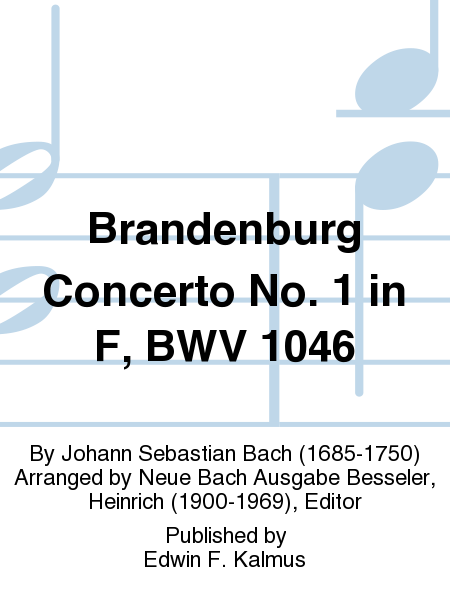 Brandenburg Concerto No. 1 in F, BWV 1046