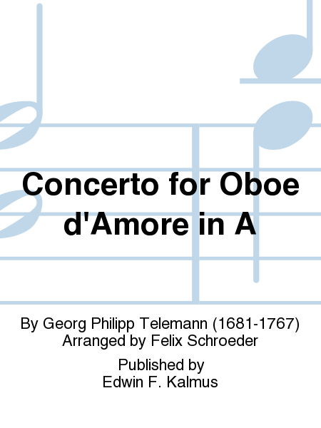 Concerto for Oboe d'Amore in A