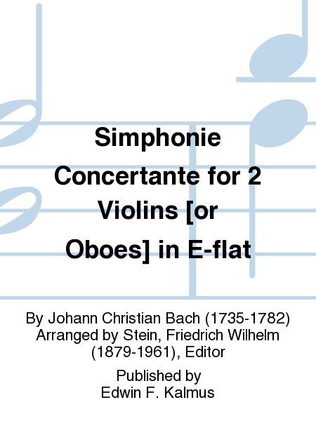 Simphonie Concertante for 2 Violins [or Oboes] in E-flat