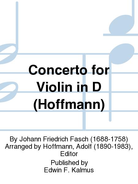 Concerto for Violin in D (Hoffmann)