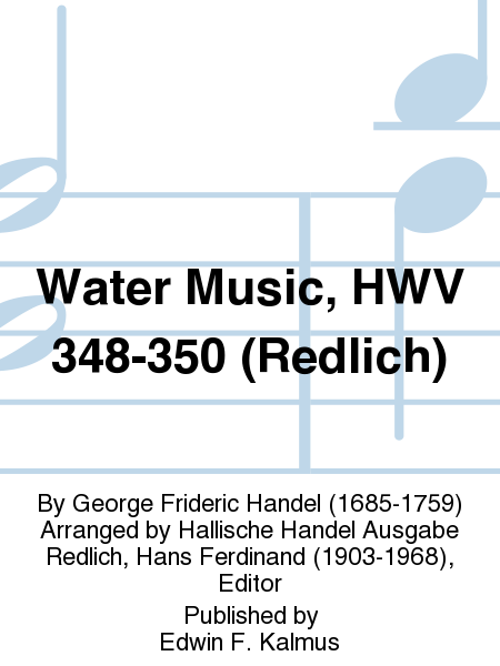 Water Music, HWV 348-350 (Redlich)