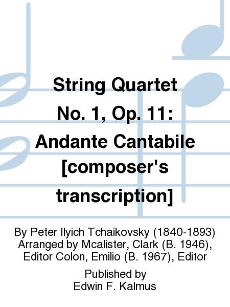 String Quartet No. 1, Op. 11: Andante Cantabile [composer's transcription]