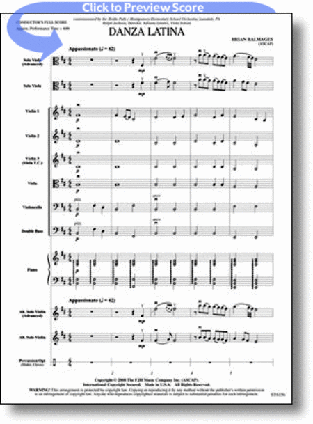 Danza Latina (for Solo Viola or Violin and Orchestra)
