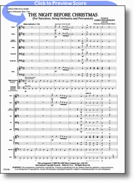 The Night Before Christmas (for Narration, String Orchestra, and Percussion)