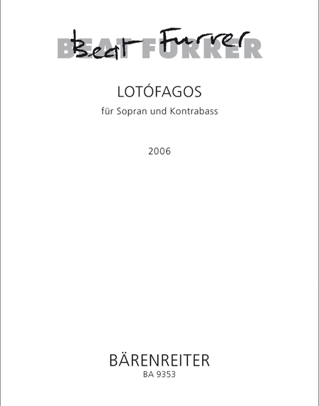lotofagos I for Soprano and Double Bass