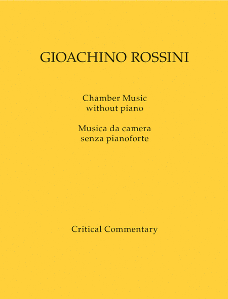 Chamber Music without piano / Musica da camera senza pianoforte