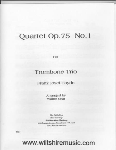 Trombone Trio, Op. 75