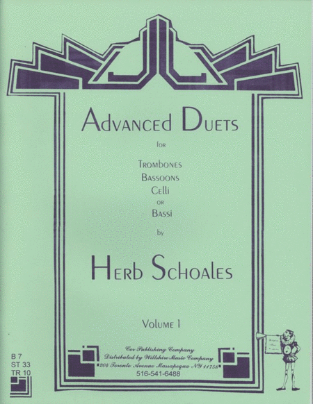 Advanced Duets for Lower Voiced Instruments Vol. 1