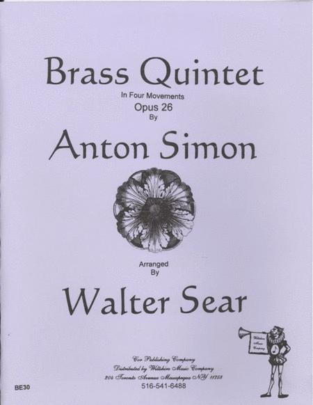 Quintet in 3 Movements, Op. 26