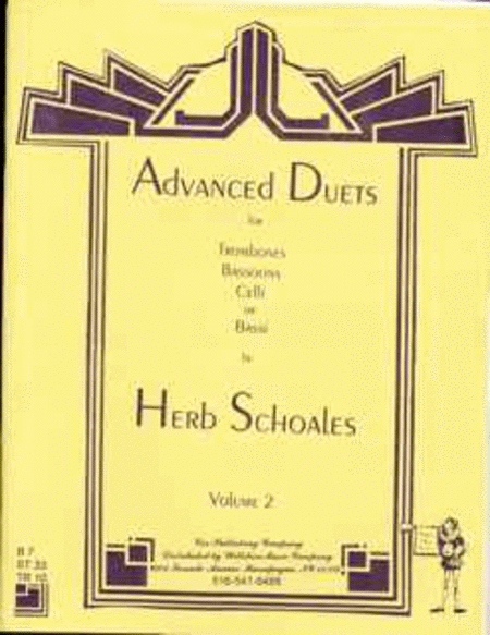 Advanced Duets for Lower Voiced Instruments Volume II