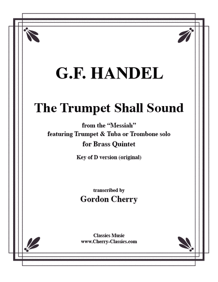 Trumpet Shall Sound in the key of D