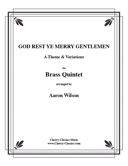 God Rest Ye Merry Gentlemen, Theme & Variations