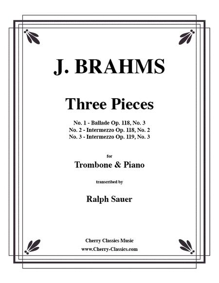 Three Pieces for Tenor Trombone & Piano
