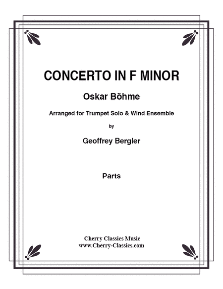 Concerto in F minor for Trumpet