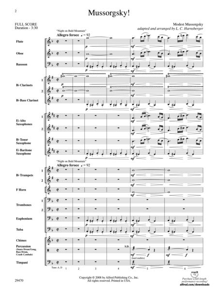 Mussorgsky! (Score only)