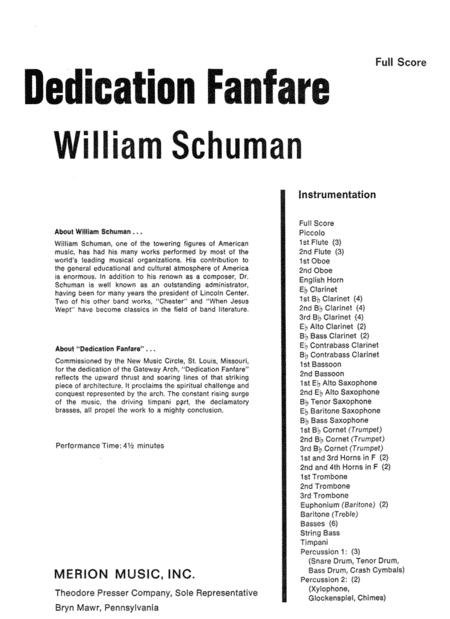 Dedication Fanfare