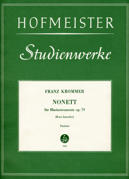 Nonett fur Blasinstrumente op. 79 / Partitur