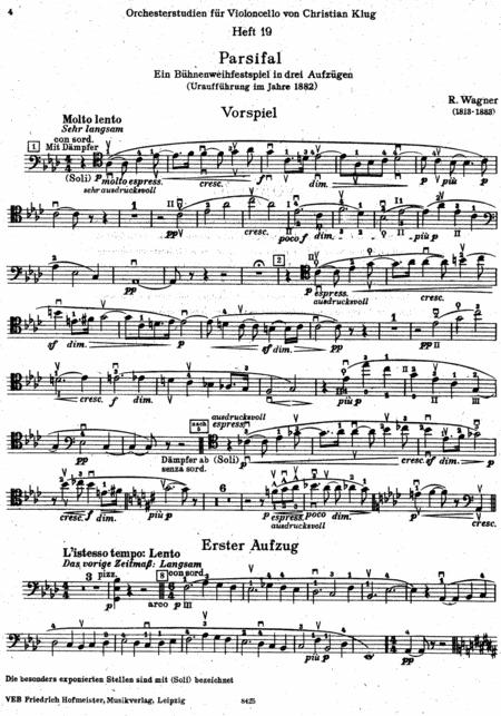 Orchesterstudien fur Violoncello, Heft 19