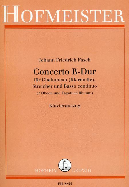 Concerto B-Dur Fur Chalumeau (Klarinette), Streicher Und Basso Continuo (2 Oboen Und Fagott Ad ...