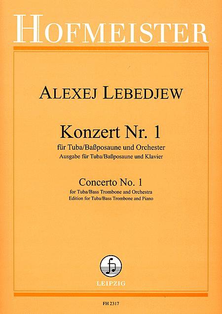 Konzert Nr. 1 fur Tuba (bassposaune) und Orchester / KlA