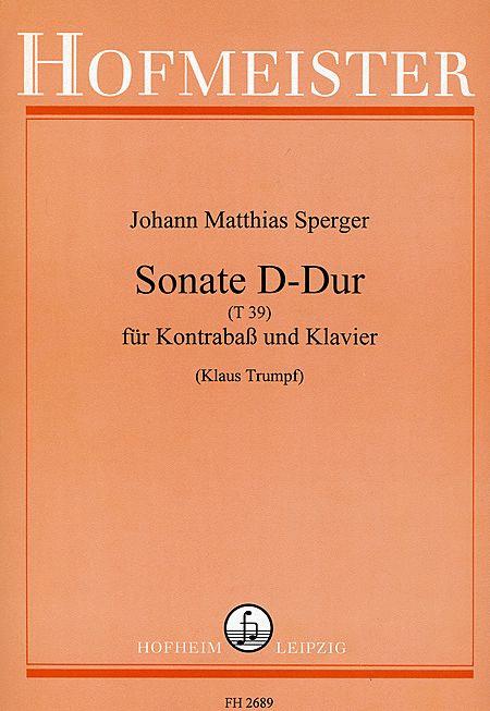 Sonate D-Dur (T39)