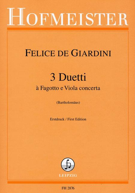 3 Duetti a Fagotto e Viola