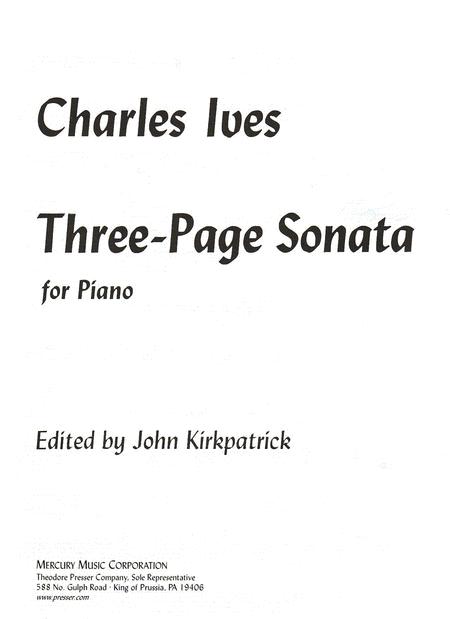 Three-Page Sonata