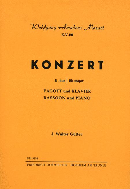 Konzert B-Dur, KV 191 / KlA