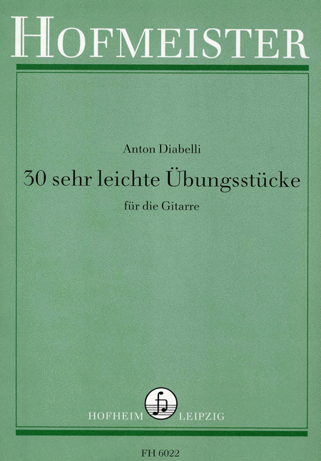 30 sehr leichte ubungsstucke op 39 sheet music by anton diabelli sheet music plus. Black Bedroom Furniture Sets. Home Design Ideas