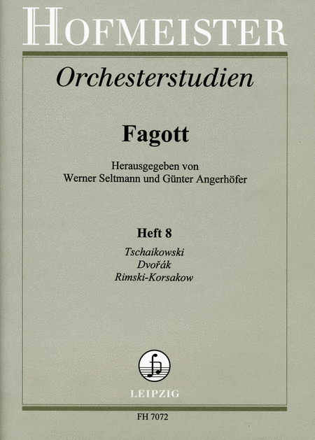 Orchesterstudien fur Fagott, Heft 8: Tschaikowski, Dvorak, Rimski-Korsakow