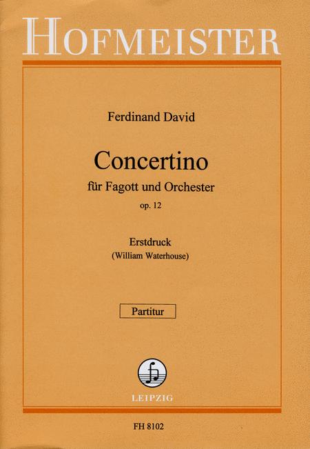 Concertino fur Fagott op. 12 / Partitur