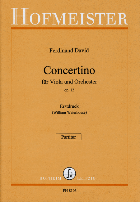 Concertino fur Viola op. 12 / Part