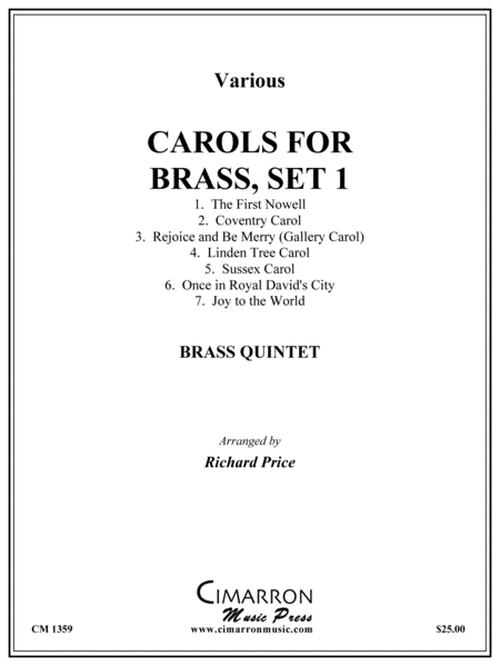 Carols for Brass, Set 1