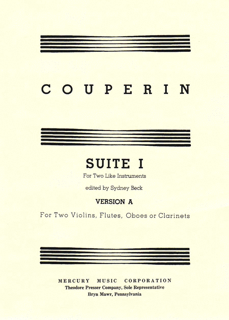 Suite I for Two Like Instruments