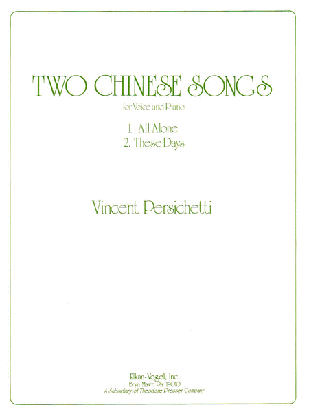 Two Chinese Songs