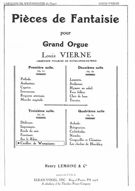 VI. Carillon De Westminster