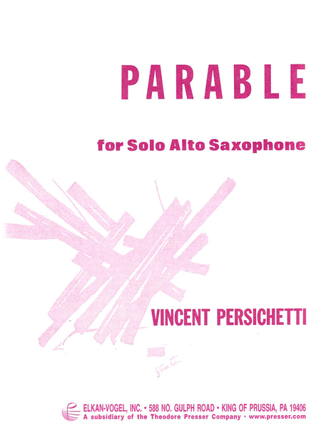 Parable for Alto Saxophone