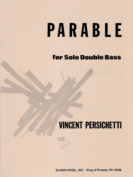 PARABLE FOR SOLO DOUBLE BASS
