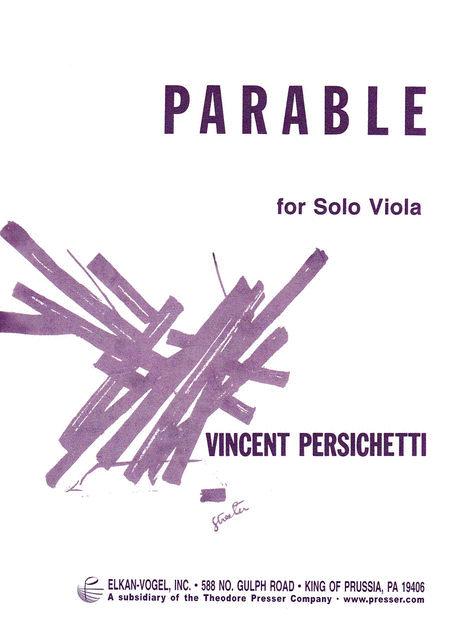 Parable for Solo Viola