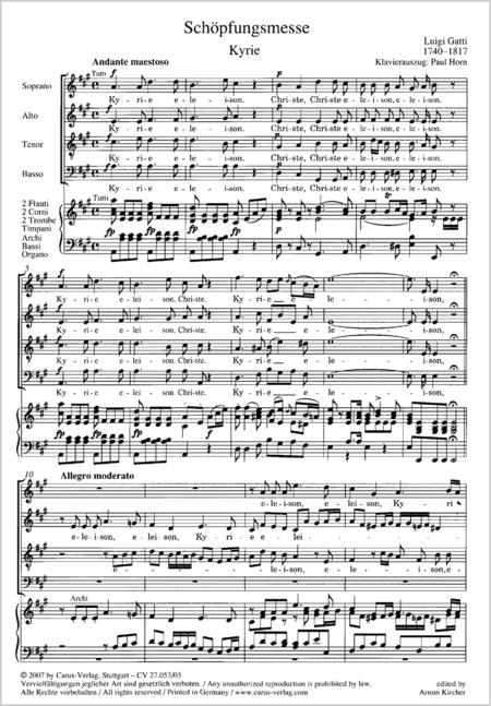 Creation Mass in A-major after Joseph Haydn
