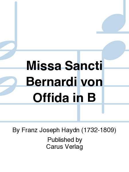 Missa Sancti Bernardi von Offida in B