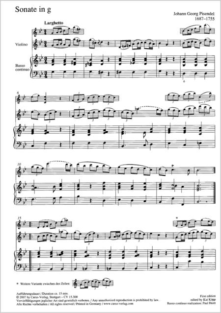 Sonate in g